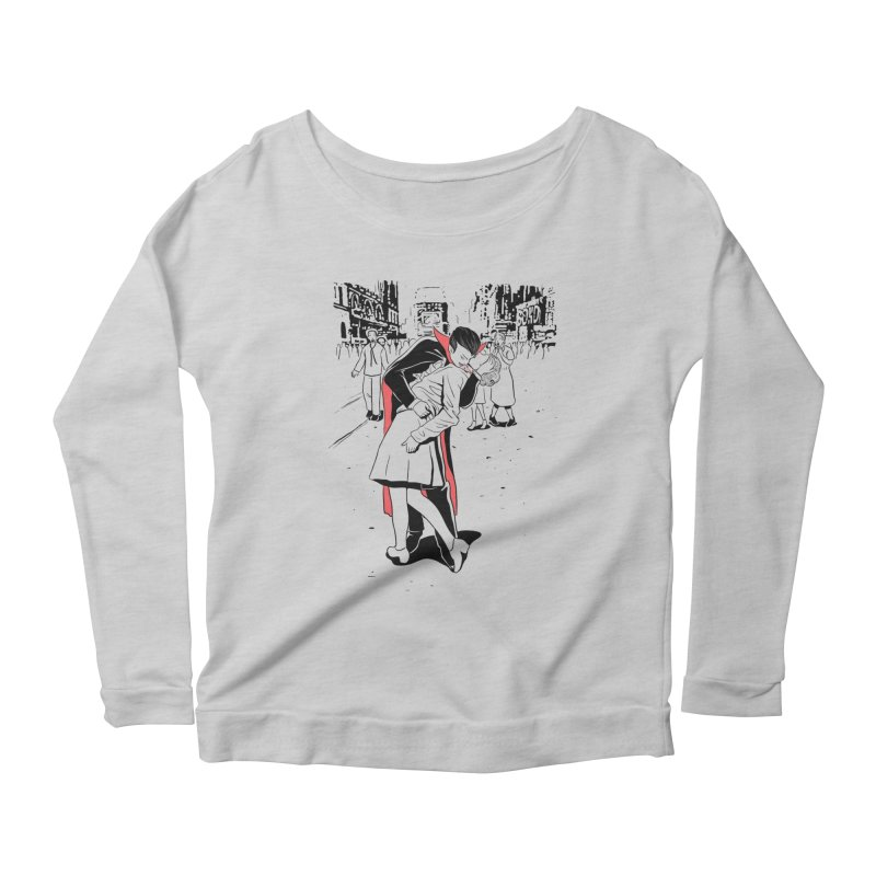 Time Square Bite Women's Longsleeve T-Shirt by Flying Mouse365