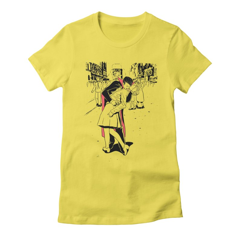 Time Square Bite Women's T-Shirt by Flying Mouse365