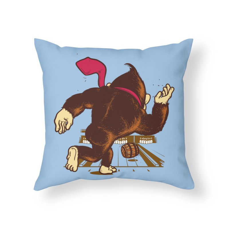 Training Field Home Throw Pillow by Flying Mouse365