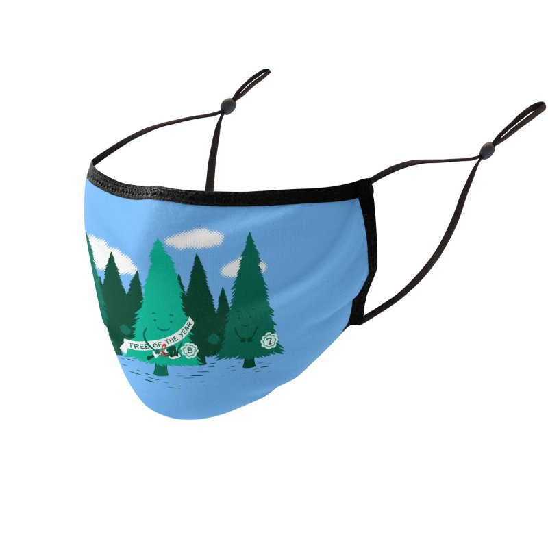 Tree Of The Year Accessories Face Mask by Flying Mouse365