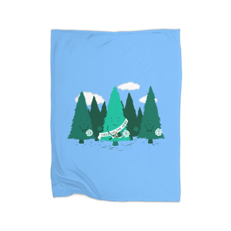 Tree Of The Year Home Blanket by Flying Mouse365
