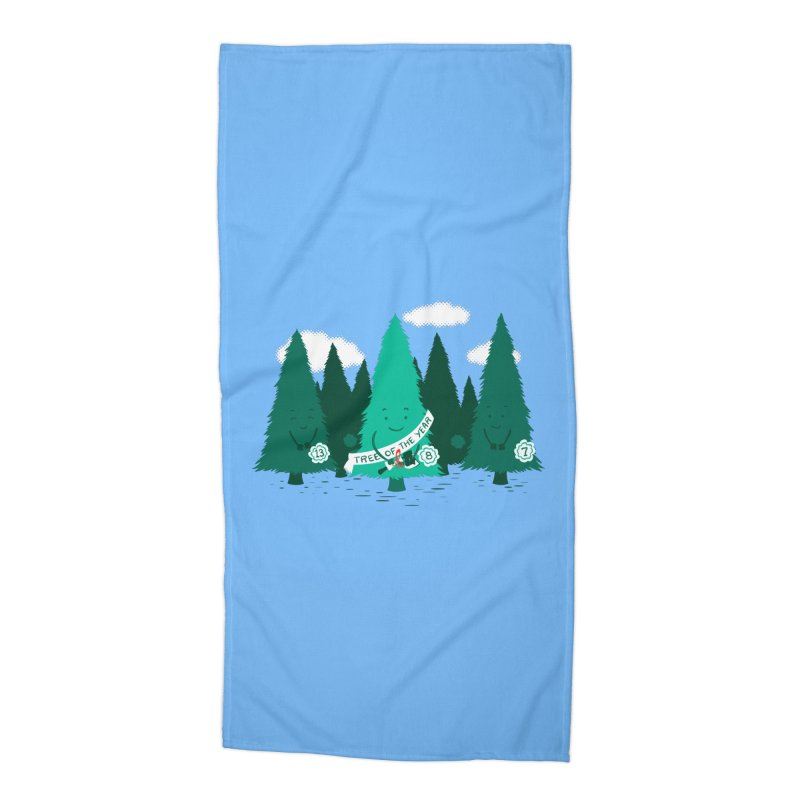 Tree Of The Year Accessories Beach Towel by Flying Mouse365