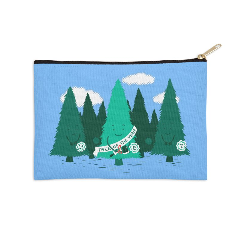 Tree Of The Year Accessories Zip Pouch by Flying Mouse365