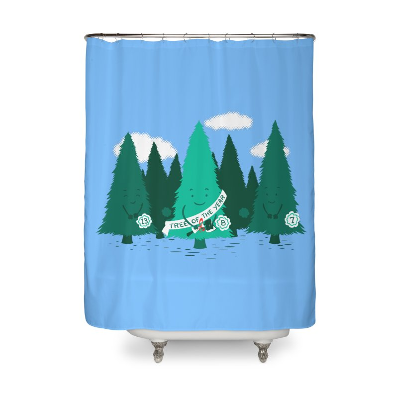 Tree Of The Year Home Shower Curtain by Flying Mouse365