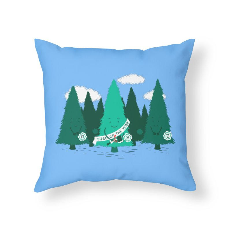 Tree Of The Year Home Throw Pillow by Flying Mouse365