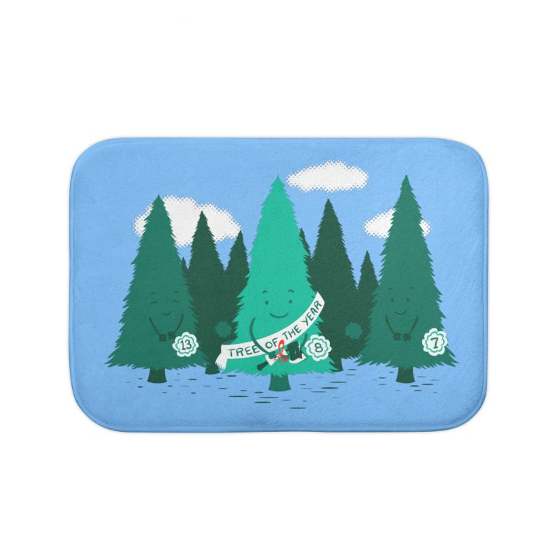 Tree Of The Year Home Bath Mat by Flying Mouse365