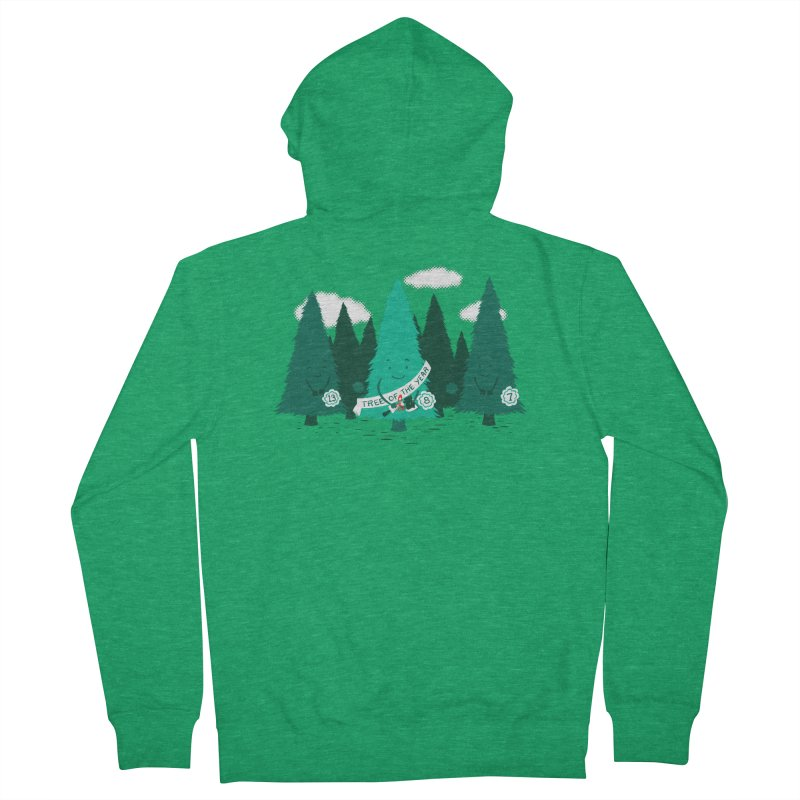 Tree Of The Year Women's Zip-Up Hoody by Flying Mouse365