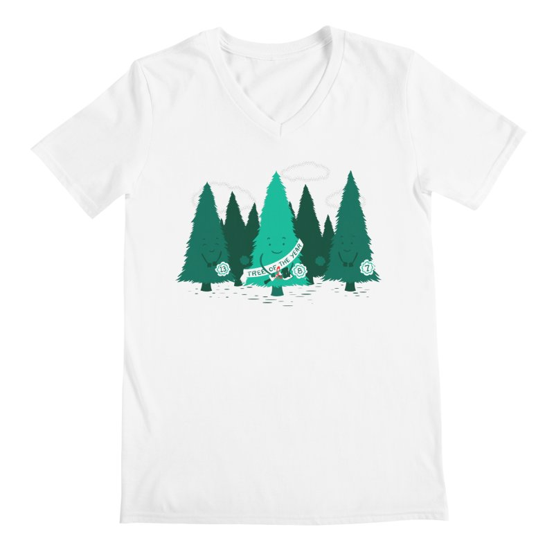 Tree Of The Year Men's V-Neck by Flying Mouse365
