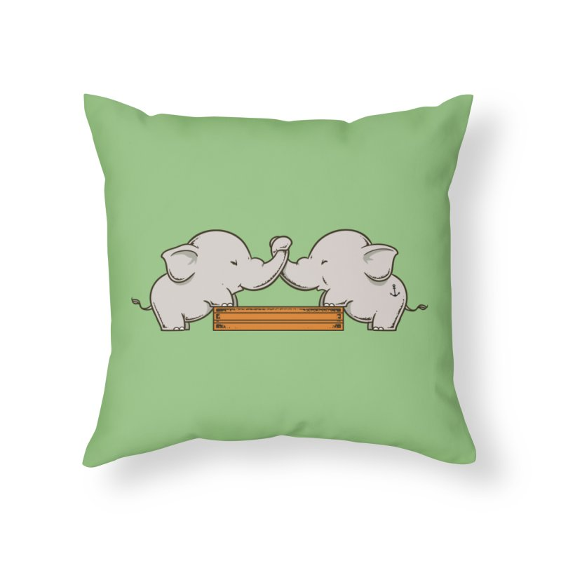 Trunk Wrestling Home Throw Pillow by Flying Mouse365