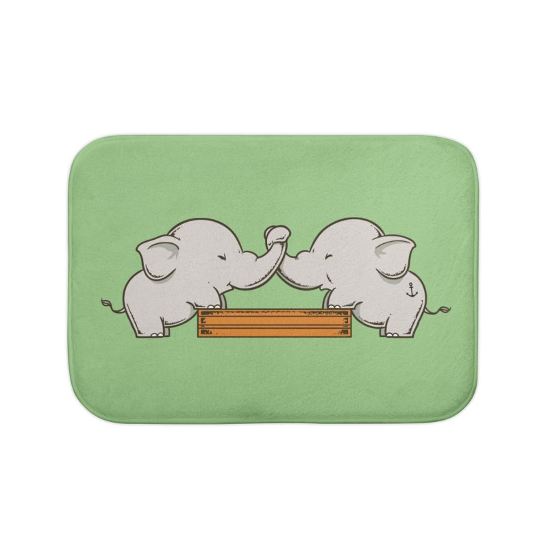 Trunk Wrestling Home Bath Mat by Flying Mouse365