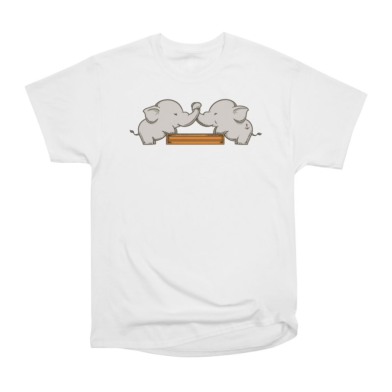 Trunk Wrestling Women's T-Shirt by Flying Mouse365