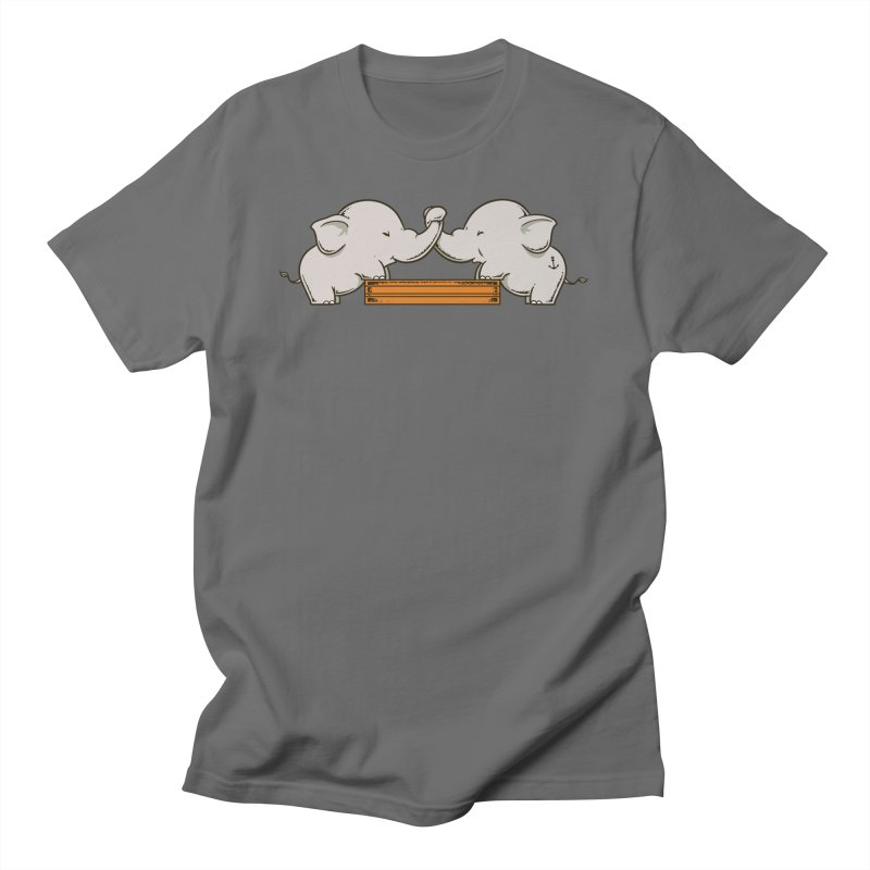 Trunk Wrestling Men's T-Shirt by Flying Mouse365