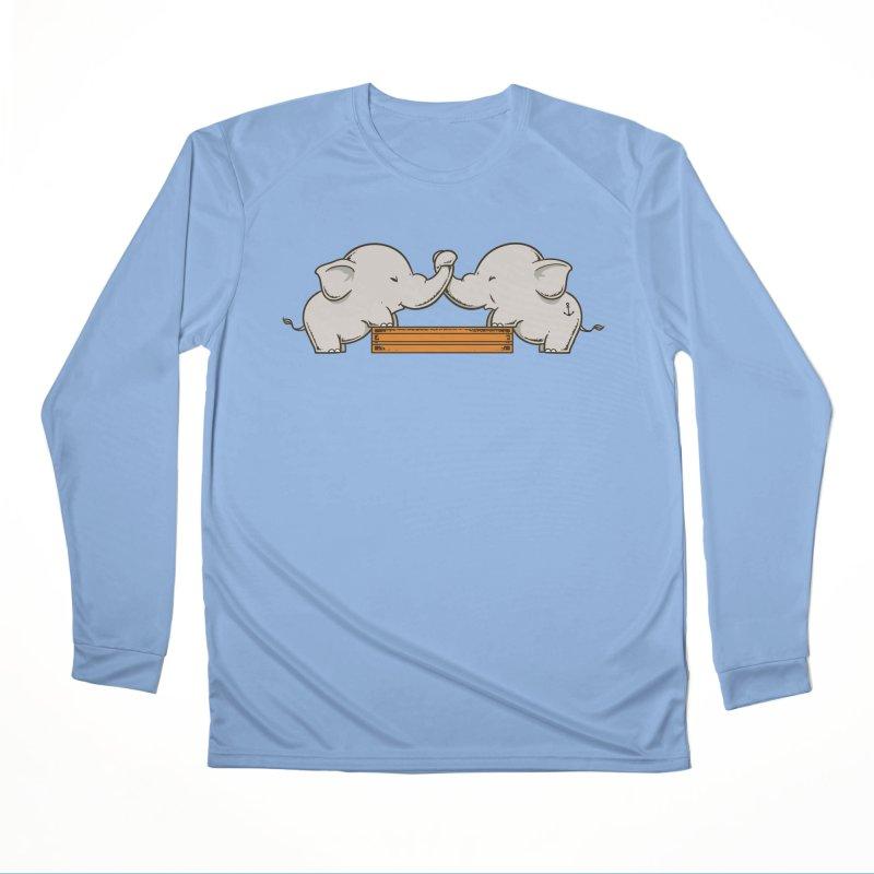 Trunk Wrestling Men's Longsleeve T-Shirt by Flying Mouse365