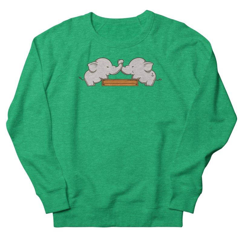 Trunk Wrestling Women's Sweatshirt by Flying Mouse365