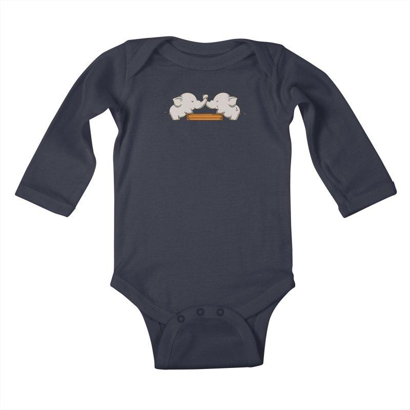Trunk Wrestling Kids Baby Longsleeve Bodysuit by Flying Mouse365