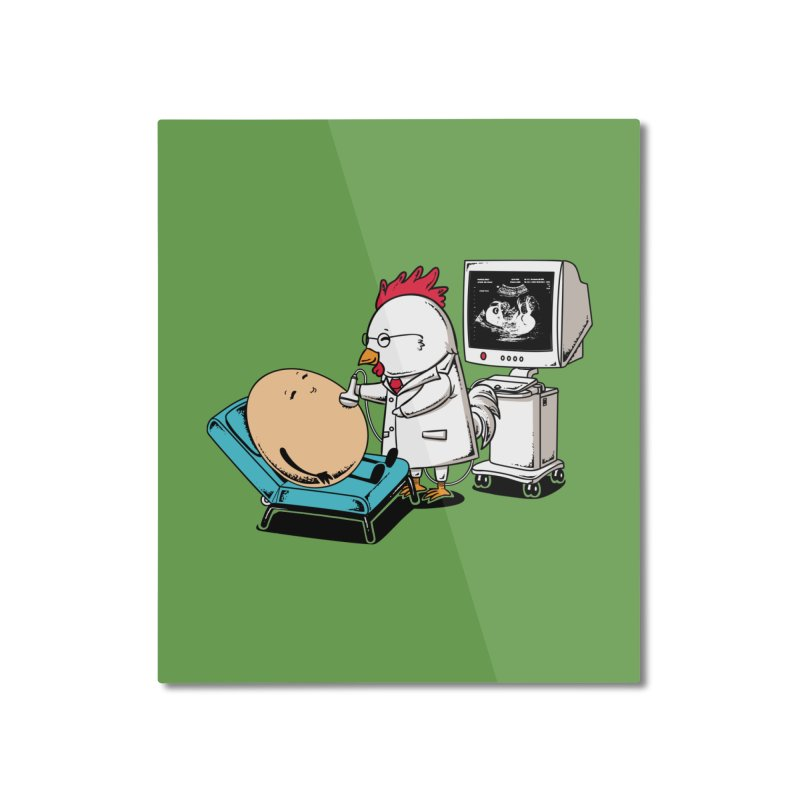 Ultrasound Scans Home Mounted Aluminum Print by Flying Mouse365