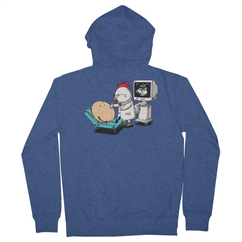 Ultrasound Scans Men's Zip-Up Hoody by Flying Mouse365