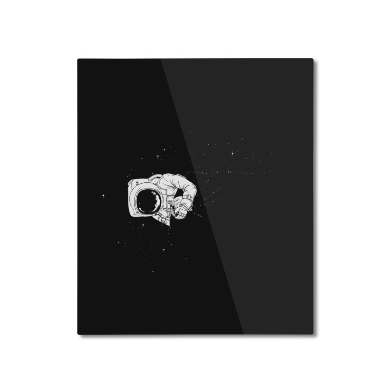 Universe Dream Home Mounted Aluminum Print by Flying Mouse365