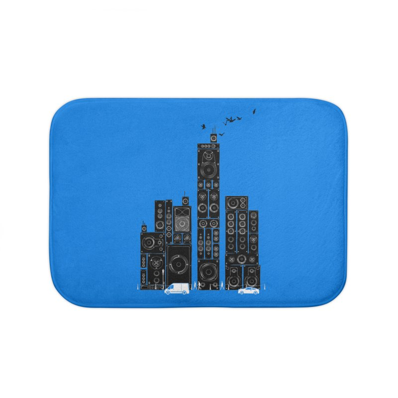 Urban Track Home Bath Mat by Flying Mouse365