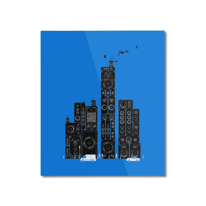 Urban Track Home Mounted Aluminum Print by Flying Mouse365