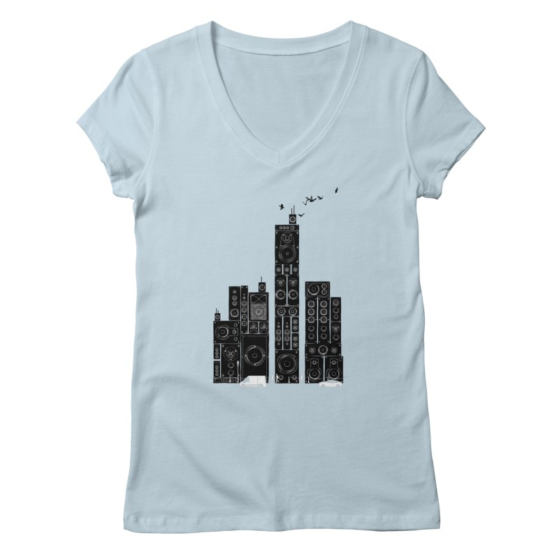 Urban Track Women's V-Neck by Flying Mouse365