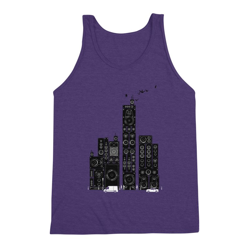 Urban Track Men's Tank by Flying Mouse365