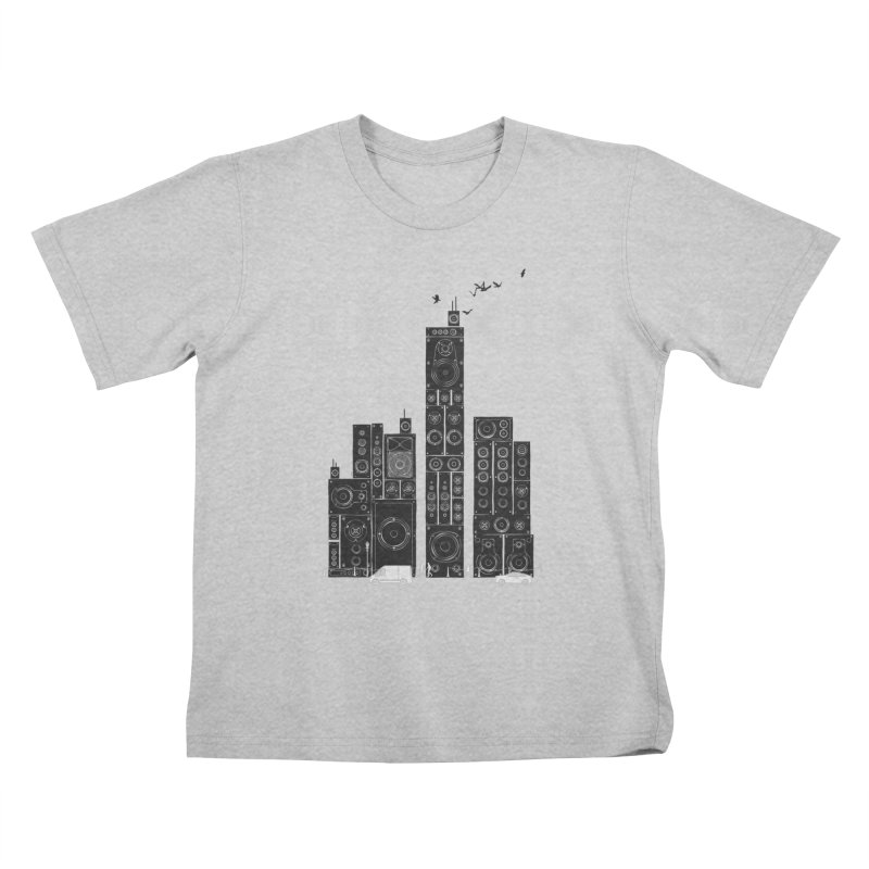 Urban Track Kids T-Shirt by Flying Mouse365