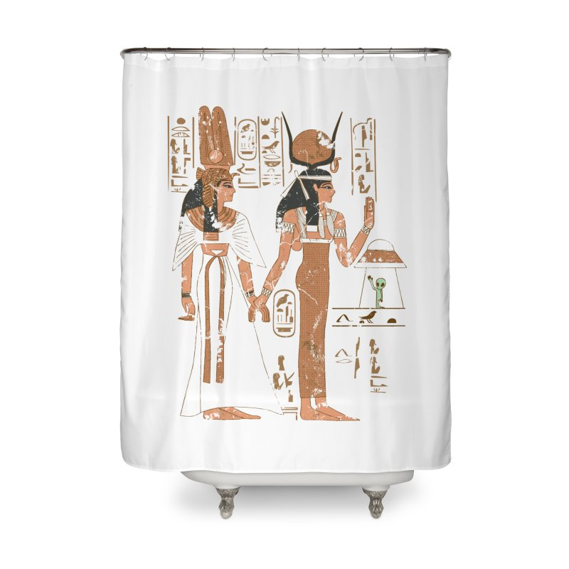 Visitor Home Shower Curtain by Flying Mouse365