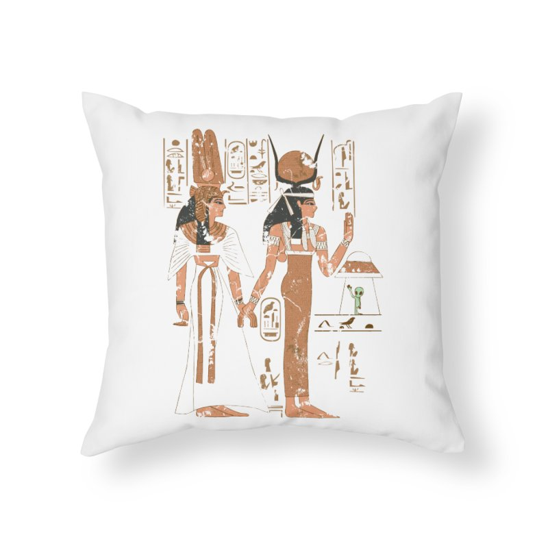 Visitor Home Throw Pillow by Flying Mouse365