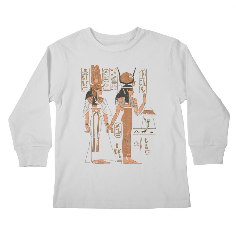 Visitor Kids Longsleeve T-Shirt by Flying Mouse365
