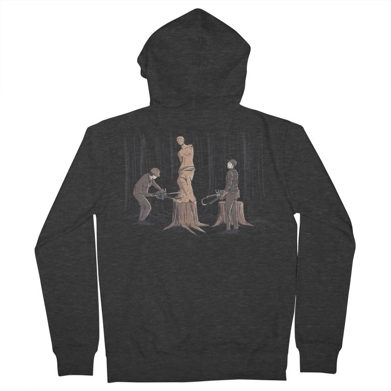 Masterpiece Men's French Terry Zip-Up Hoody by Flying Mouse365