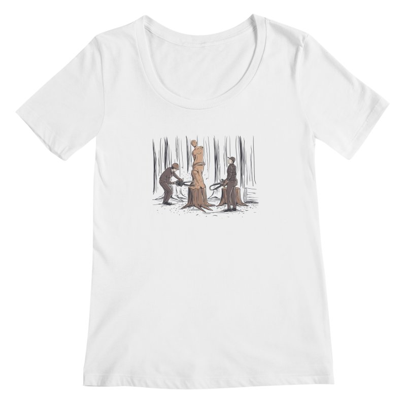 Masterpiece Women's Scoopneck by Flying Mouse365