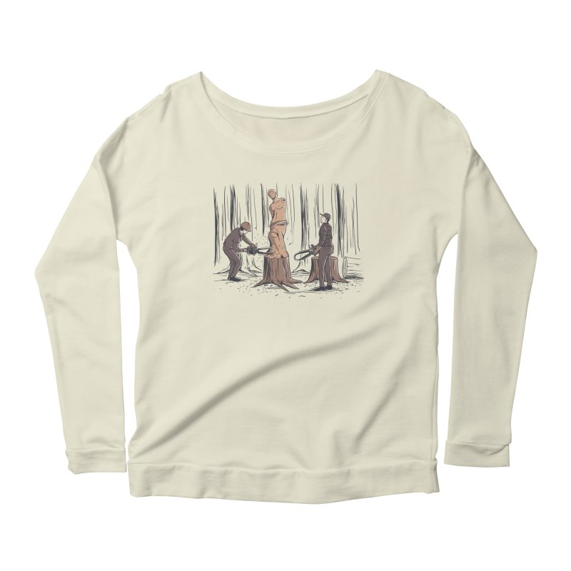 Masterpiece Women's Longsleeve Scoopneck  by Flying Mouse365