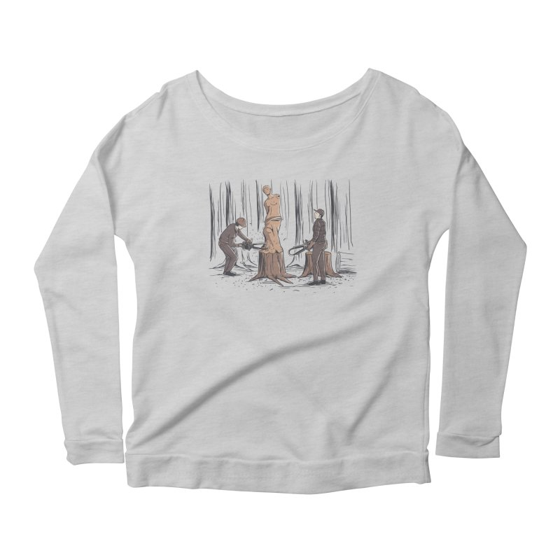 Masterpiece Women's Scoop Neck Longsleeve T-Shirt by Flying Mouse365