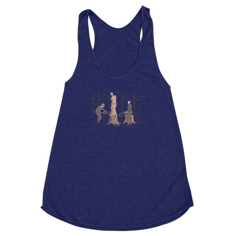 Masterpiece Women's Racerback Triblend Tank by Flying Mouse365