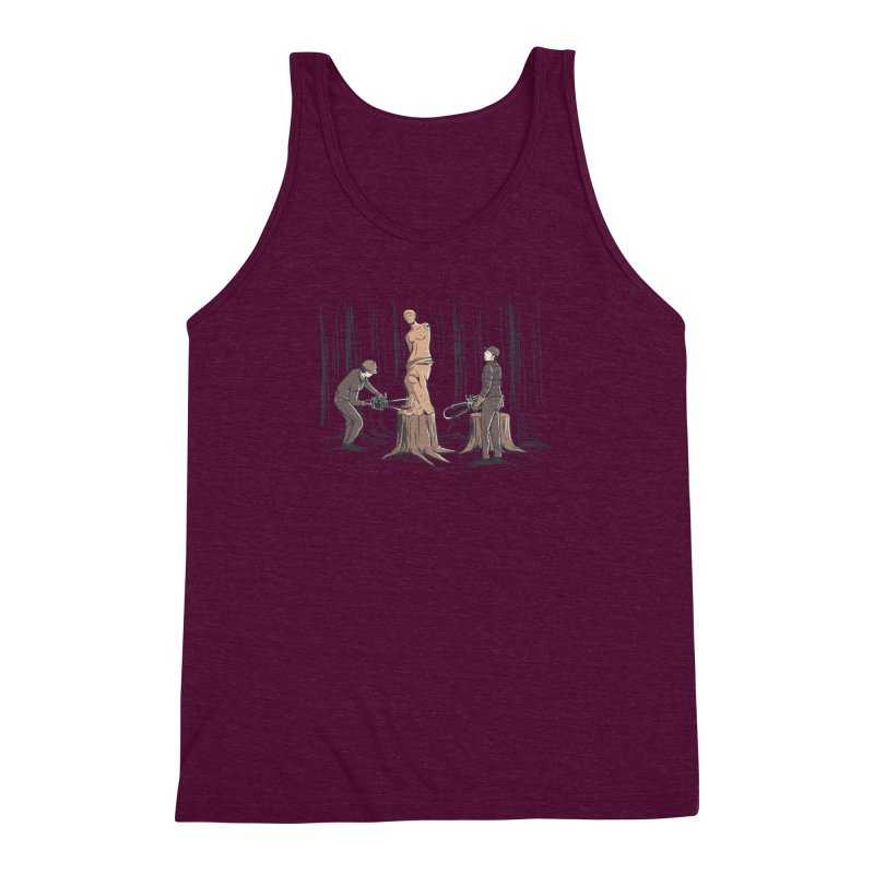 Masterpiece Men's Triblend Tank by Flying Mouse365