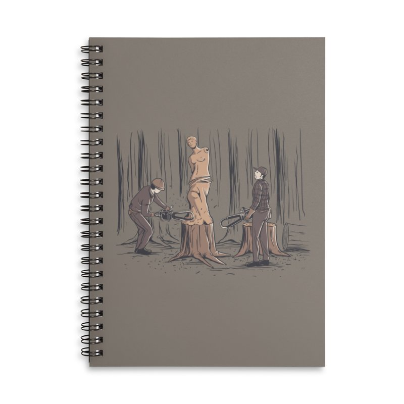 Masterpiece Accessories Lined Spiral Notebook by Flying Mouse365
