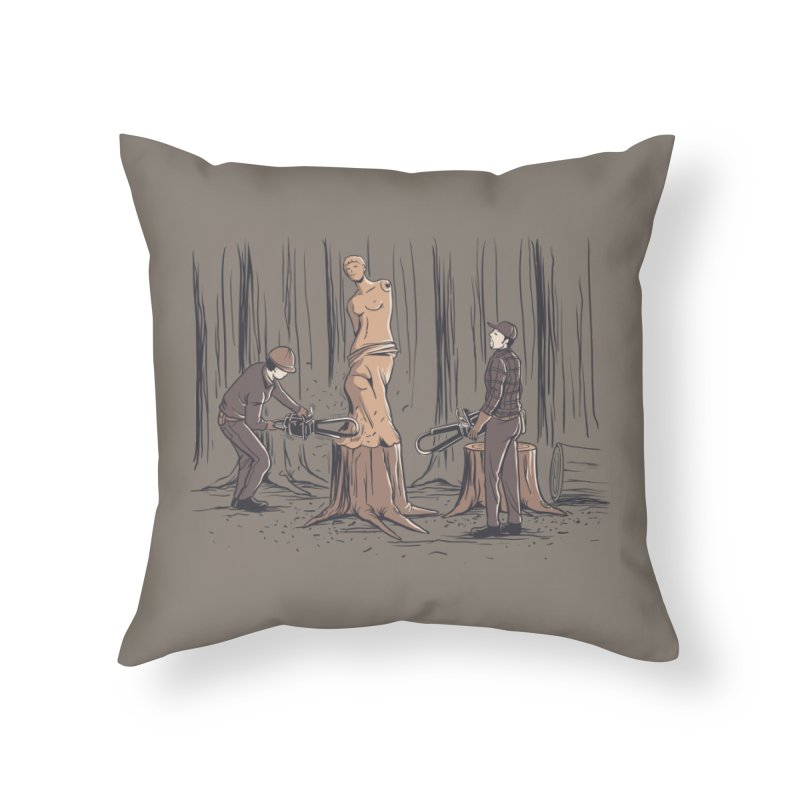 Masterpiece Home Throw Pillow by Flying Mouse365