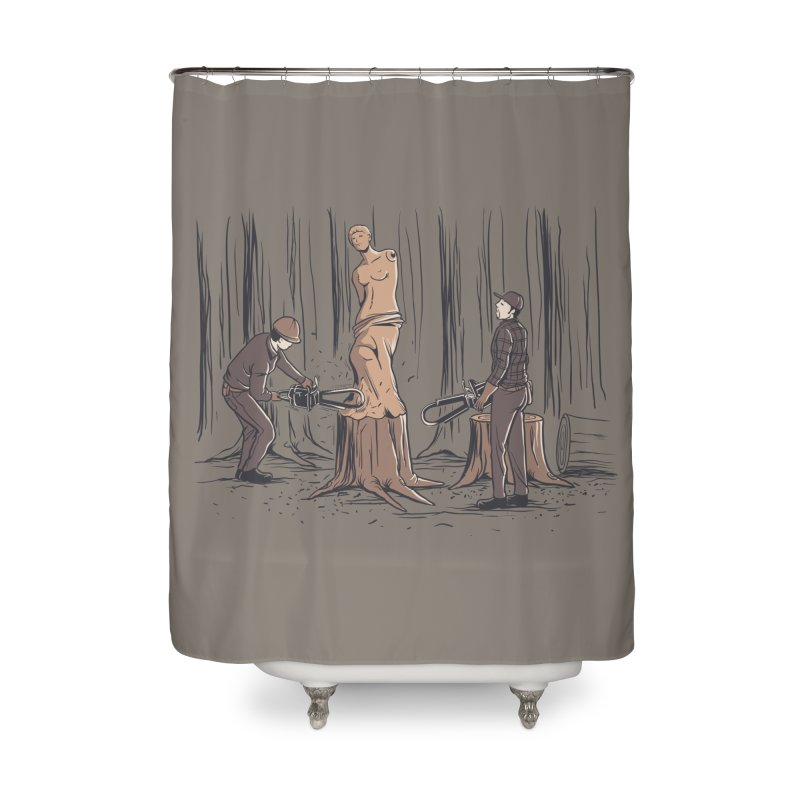 Masterpiece Home Shower Curtain by Flying Mouse365