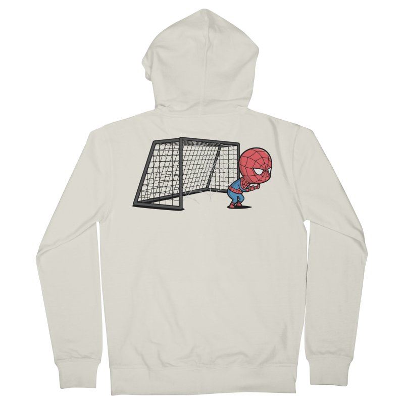 Sporty Spidey - Soccer Women's Zip-Up Hoody by Flying Mouse365