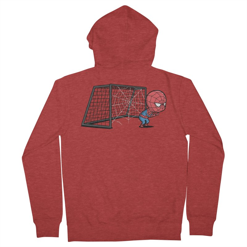 Sporty Buddy - Soccer Men's Zip-Up Hoody by Flying Mouse365