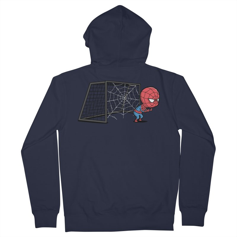 Sporty Spidey - Soccer Men's Zip-Up Hoody by Flying Mouse365