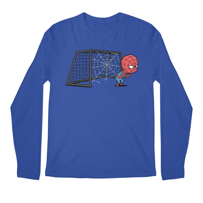 Sporty Spidey - Soccer Men's Longsleeve T-Shirt by Flying Mouse365