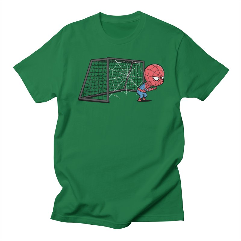 Sporty Spidey - Soccer Men's T-shirt by Flying Mouse365