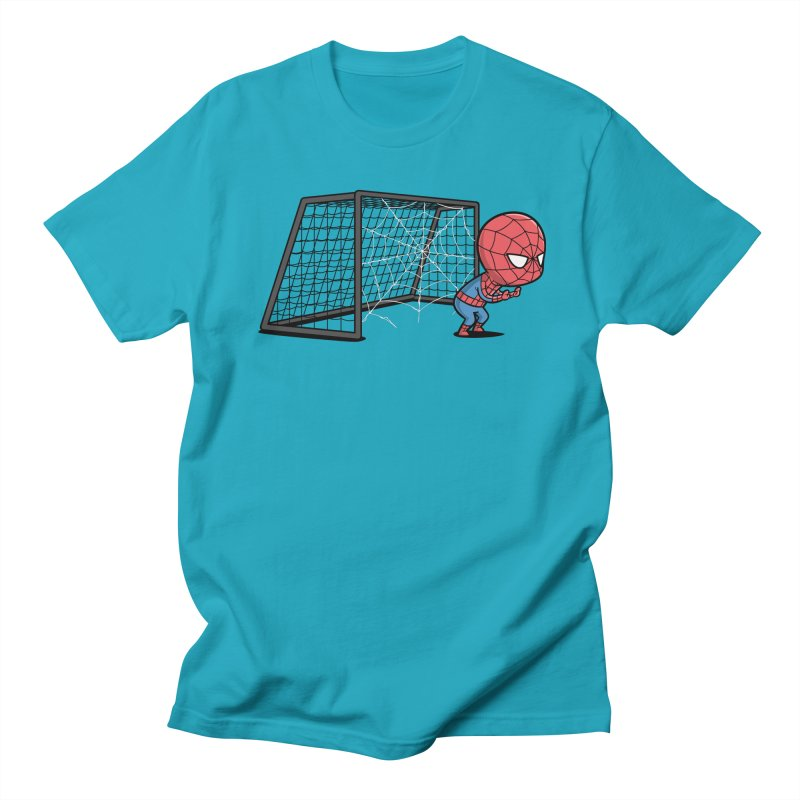 Sporty Buddy - Soccer Men's T-Shirt by Flying Mouse365