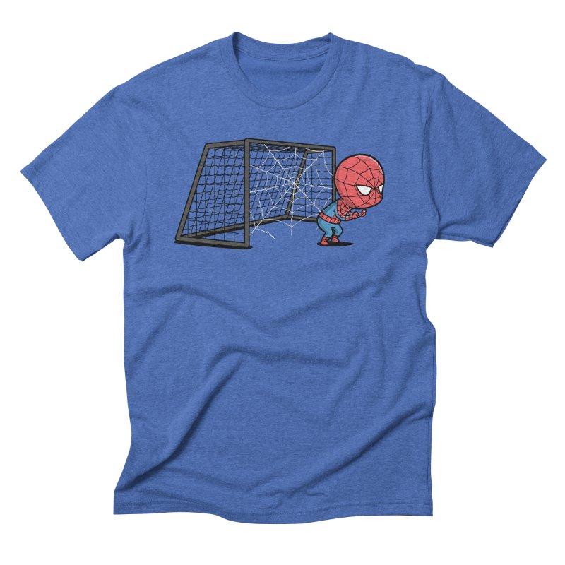 Sporty Buddy - Soccer Men's Triblend T-shirt by Flying Mouse365