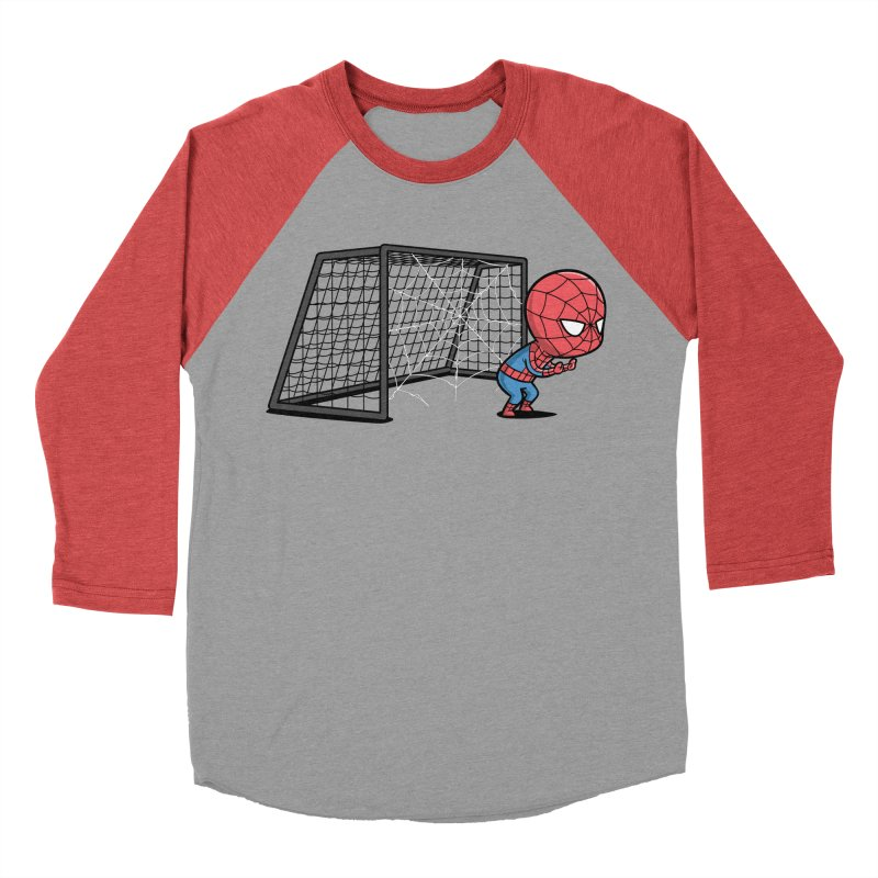 Sporty Spidey - Soccer Men's Baseball Triblend T-Shirt by Flying Mouse365