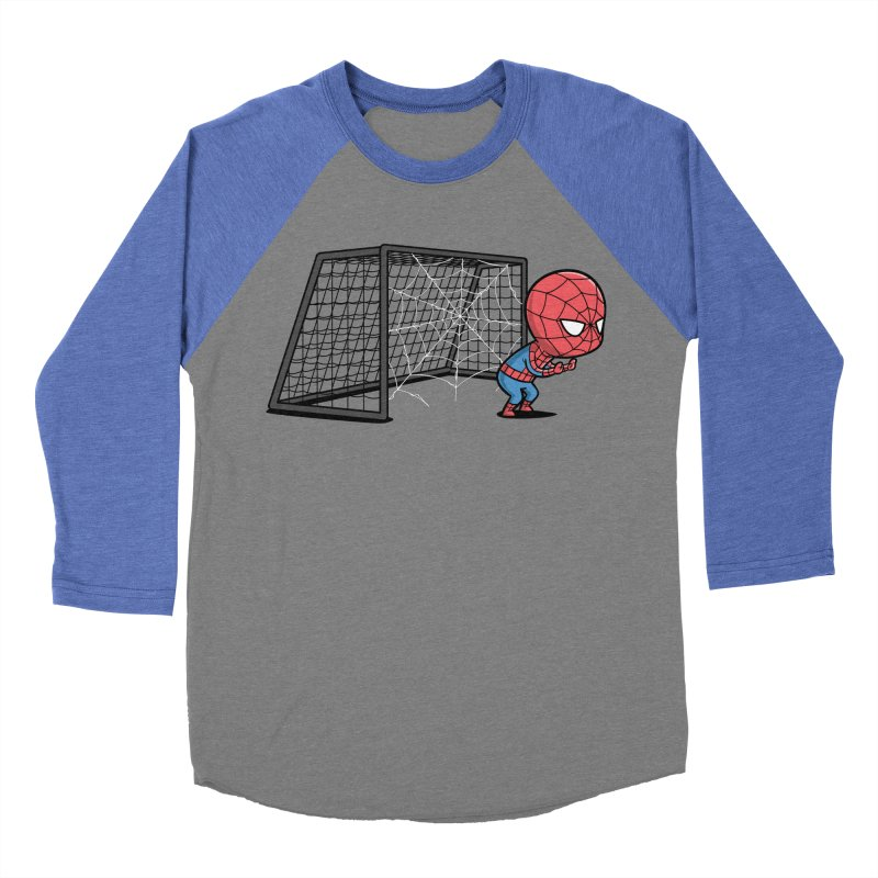 Sporty Buddy - Soccer Men's Baseball Triblend T-Shirt by Flying Mouse365