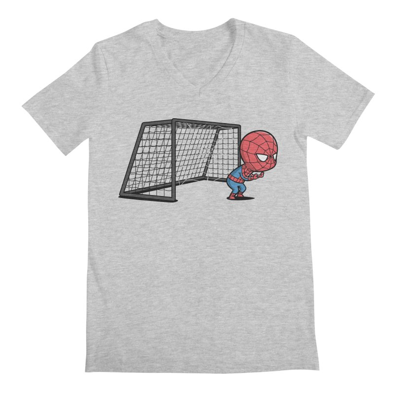 Sporty Buddy - Soccer Men's V-Neck by Flying Mouse365
