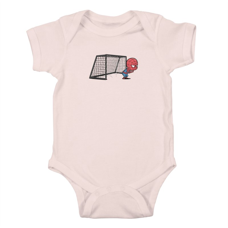 Sporty Spidey - Soccer Kids Baby Bodysuit by Flying Mouse365